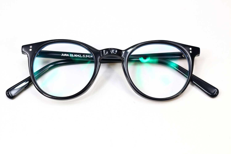 black frame blue light glasses