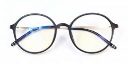 black metal blue light glasses