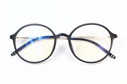 black metal blue light glasses