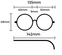 iona blue light glasses size guide